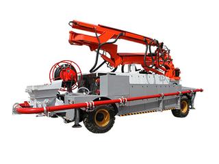 工程車底盤混凝土噴漿機組